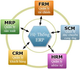 Mô hình hệ thống phần mềm ERP cho doanh nghiệp